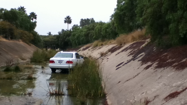 Car Pulled From Channel in Bay Park