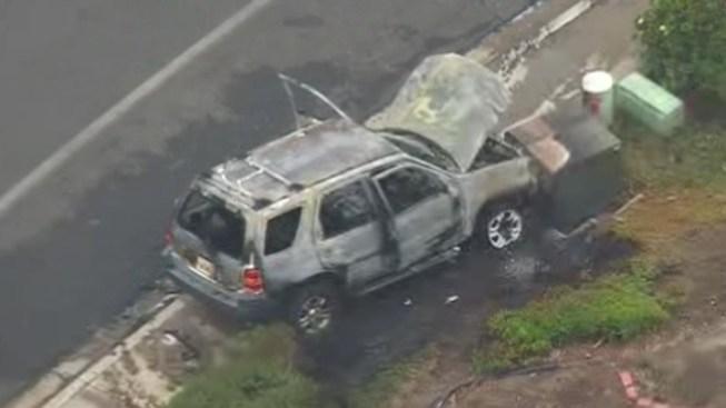 HAZMAT Responds After Car Catches Fire