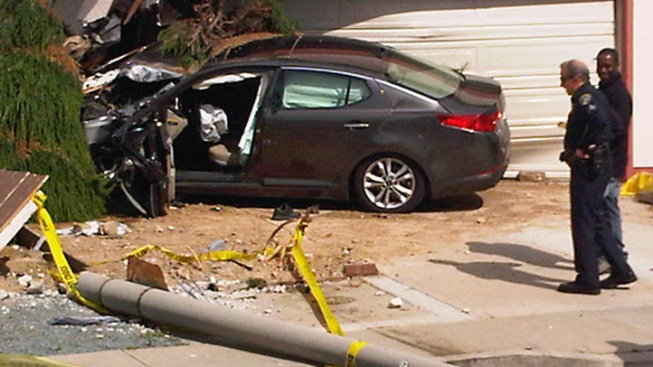 Car Hits House in Lomita