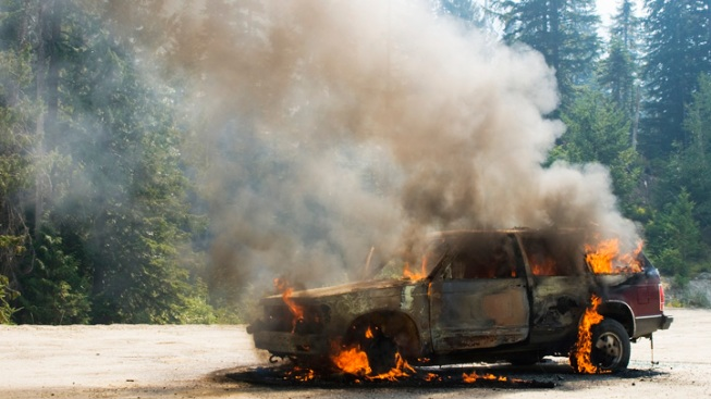 Drunk Driving Suspect Sets Car On Fire After Getting Pulled Over