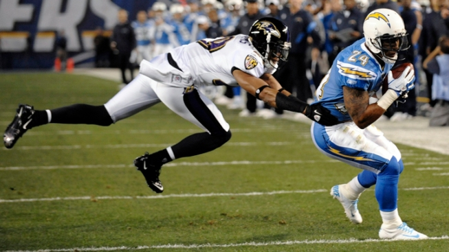 Chargers Hang On, Beat Ravens 34-14