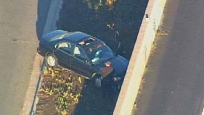 Pursuit Ends After Crash Near I-8 Freeway