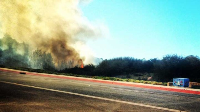 Wildfire Burned Near University City Park