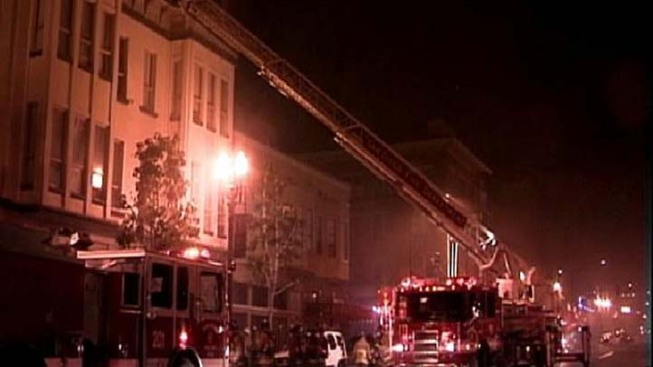 Historic Downtown Building Burns