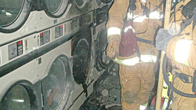Clothing Dryer Ignites in Flames