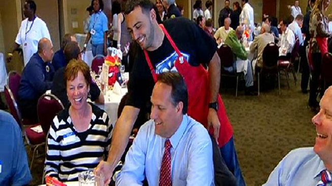 Local Celebs Wear Aprons for Charity