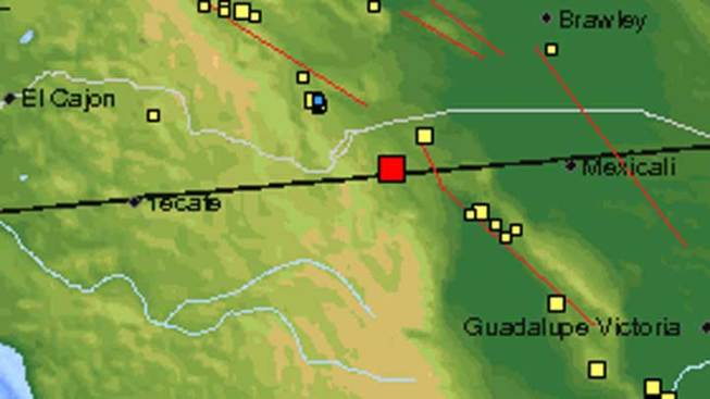 Quake Strikes Near Ocotillo