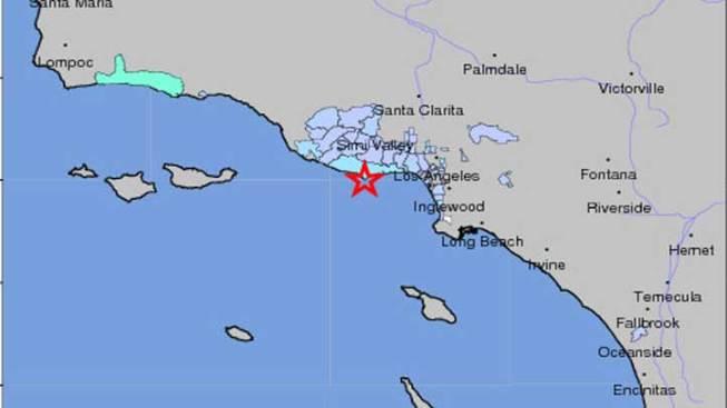 Earthquake Rumbles in Malibu, Thousand Oaks
