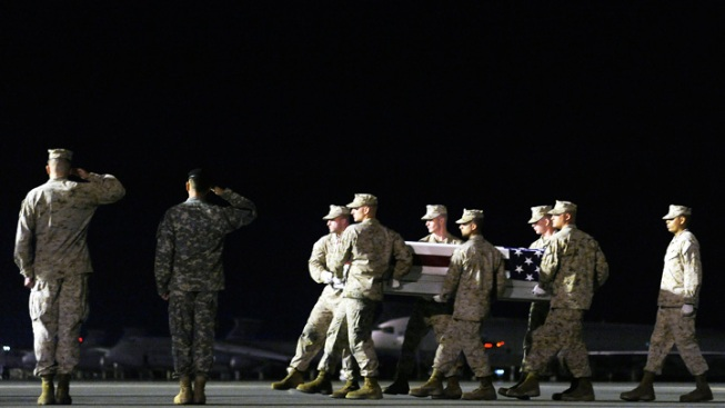 Locals Line Up to Honor Marine