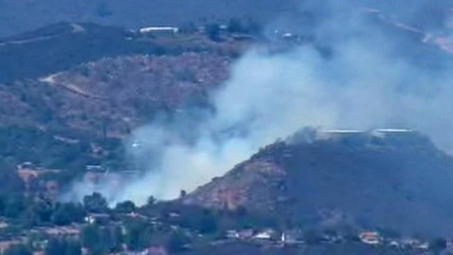 Brush Fire Burning Near Escondido