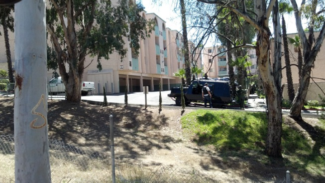 SWAT Team Surrounded Escondido Apartment