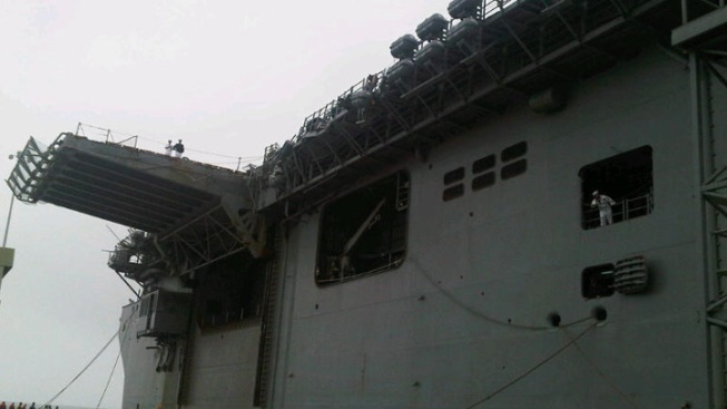 Navy Ships Collide Off Southern California Coast