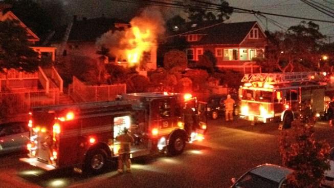 Well-Involved Fire Burns in Golden Hill