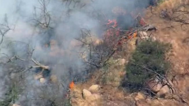 Brush Fire Burning Near Valley Center