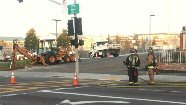 Crews Rupture Gas Line in Logan Heights