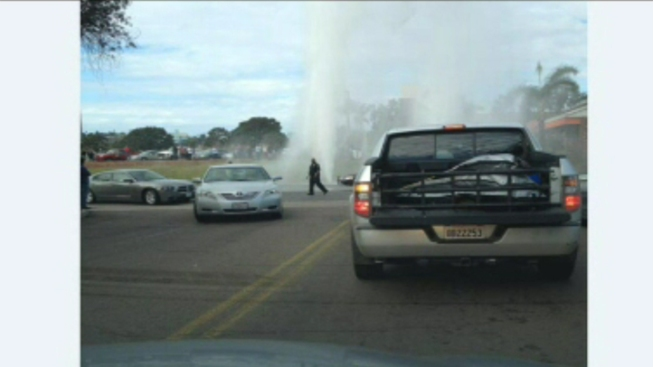 Water Shut Off After Car Hits Hydrant