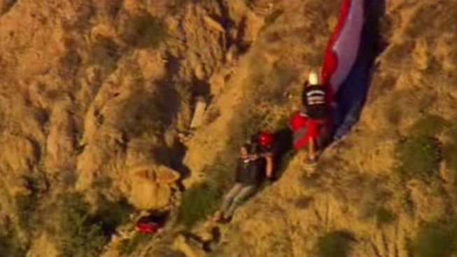 Lifeguards Rescue Hang-Glider on Cliffs