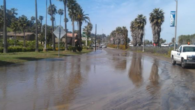 Water Main Break Floods Mission Valley