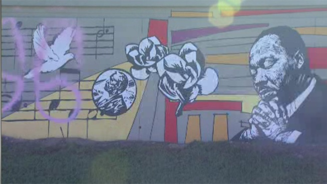 MLK Jr. Mural Vandalized