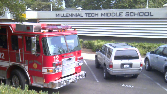 Gas Line Breaks at Middle School