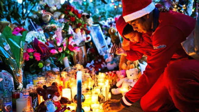Newtown Observes Christmas Amid Signs of Mourning