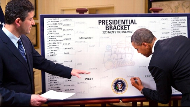 Obama Unveils NCAA Bracket, Picks Indiana to Win