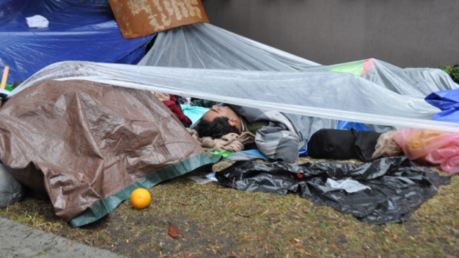 Rain Washes Away Bulk of Occupy Protesters