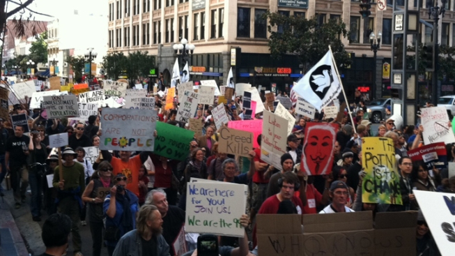 Occupy San Diego Sounds Off Downtown