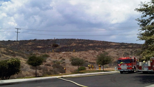 Grass Fire Burning in Otay Mesa