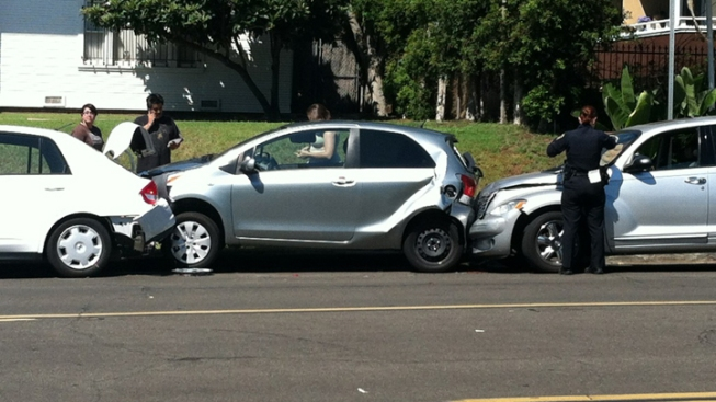 Driver Hits 3 Parked Cars, Flees