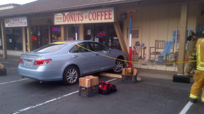 Vehicle Crashes Into Poway Donut Shop