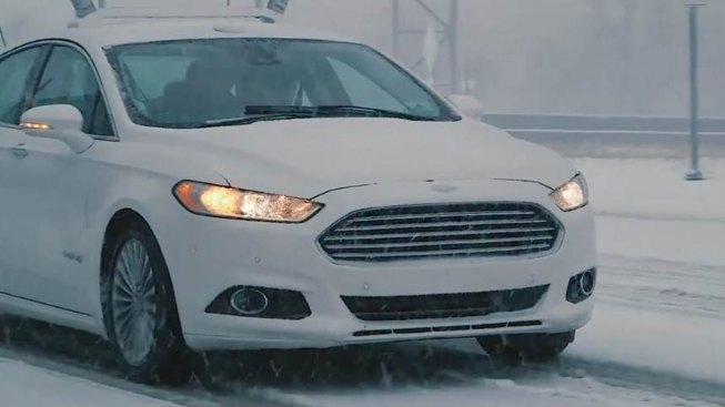 Ford Puts Its Driverless Cars in Snowy Michigan