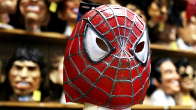 Suspect Wears Spiderman Mask During Robbery