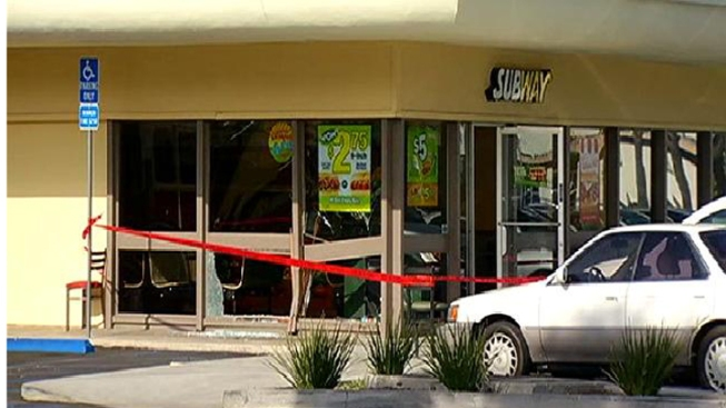 Vehicle Crashes Into Subway Restaurant: Clairemont