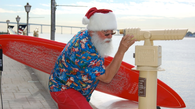 Surfin' Santa Claus is Coming to Town