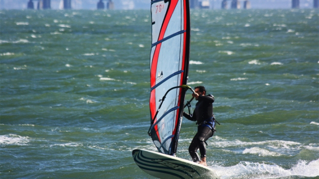 Windsurfing Returns to Lake Hodges