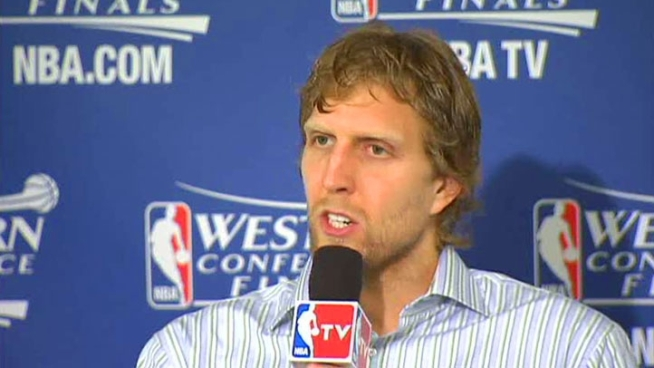 Dallas Mavericks power forward Dirk Nowitzki talks about Game 1 of the Western Conference Finals and what the team needs to do in Game 2 against the Oklahoma City Thunder on Thursday.