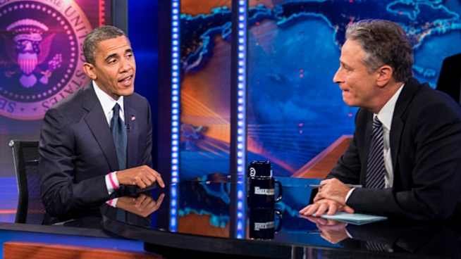"Obama Defends Libya Response on ""Daily Show"""