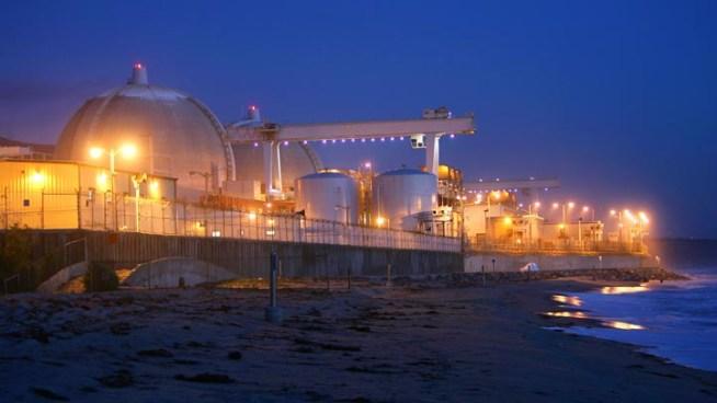 "The San Onofre atomic power plant in northern San Diego County.  Source: SCE: San Onofre Unit Shutdown ""Precautionary"" | NBC San Diego"