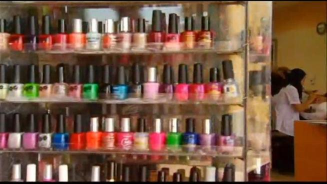 """Nail salon workers and owners have the right to work in a healthy workplace,"" says Lisa Fu with California Healthy Nail Salon Collaborative. Some nail polishes that claim to be non-toxic were found to contain high levels of chemicals that are known to cause birth defects and cancer, according to state regulators. NBC4's Stephanie Elam reports from Brea."