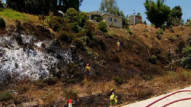 Brush Fire Contained in South County