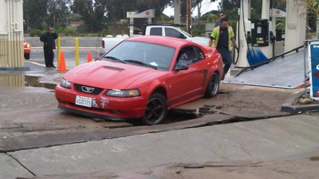 Water Main Breaks on Morena Blvd.