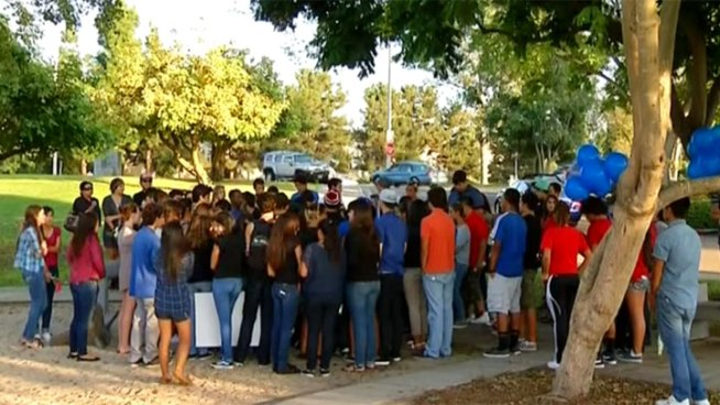 Teens gather to honor their classmate, who died after imitating a how-to video on fainting. NBC 7's Nicole Gonzales spoke with friends of David Nuno from Eastlake.