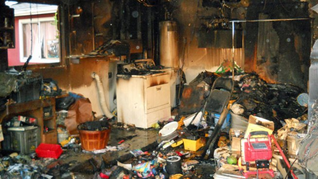 Dryer Fire Destroys Garage, Displaces Family