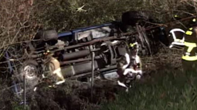 Driver Missing in I-5 Crash