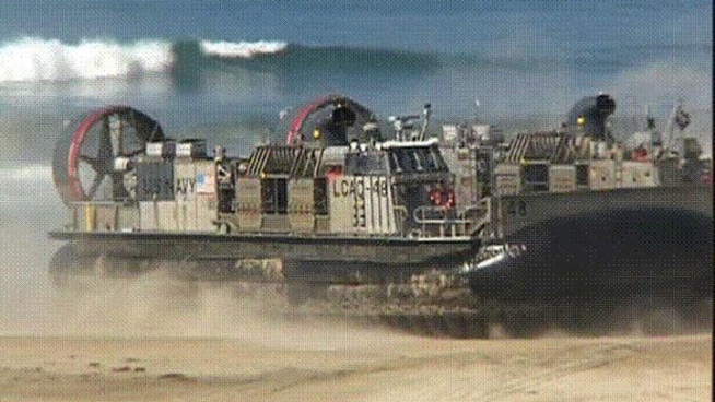 NBCSanDiego had the rare opportunity to go aboard the hovercraft Tuesday.