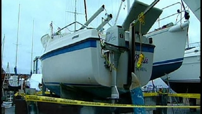 San Diego Harbor Police are investigating why a sailboat capsized in San Diego Bay.