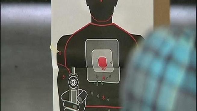 Trained security guards learn when to shoot.