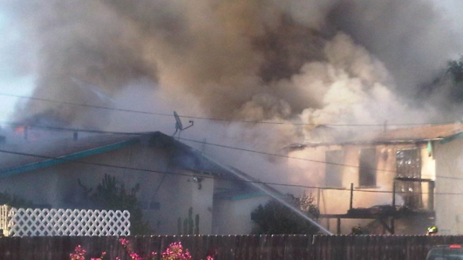 Homes Burn in La Mesa