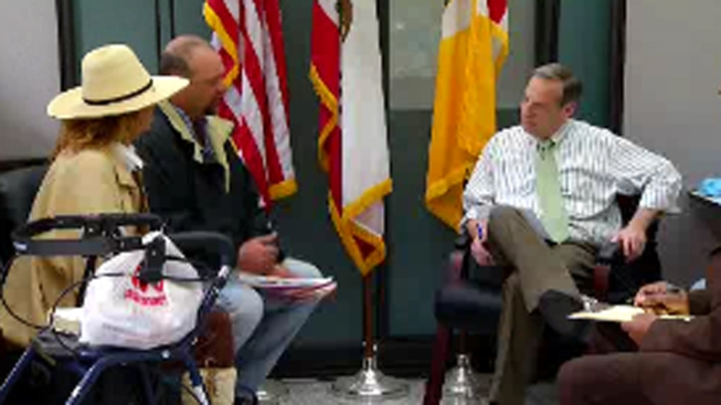 More than 100 San Diegans lined up to meet Mayor Bob Filner during open office hours. The mayor says the session was one of many to come as part of his plan to connect with the people. NBC 7's Lea Sutton reports.